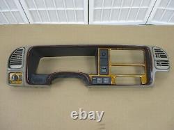 99-00 Escalade 95-99 Chevy GMC Truck TAN Dash Interior Cluster Radio Bezel Trim