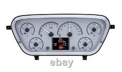 Dakota Digital 1953-55 Ford Pickup Truck Analog Gauge System Silver HDX-53F-PU-S