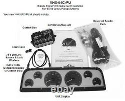Dakota Digital 1964 65 66 Chevy Pickup Truck Analog Gauge System VHX-64C-PU-C-R