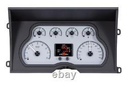 Dakota Digital 88-94 Chevy Pickup Truck Analog Gauge System Silver HDX-88C-PU-S
