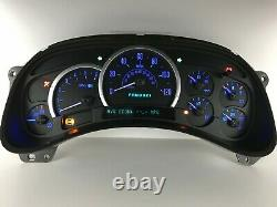 03 04 05 Escalade Speedometer Instrument Gauge Cluster Avec Led Bleue