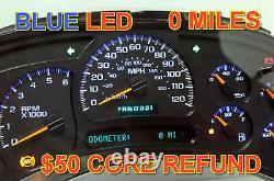 03-04 2003-2004 Rebuilt Programmé Gm Truck Blue Led Complete Dash Cluster