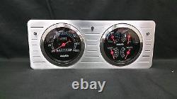1940 1941 1942 1943 1944 1945 1946 1947 Ford Truck Quad Gauge Dash Cluster Black