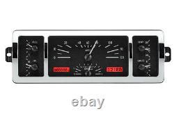 1940-46 Chevrolet Chevy Truck Dakota Digital Black Alloy / Red Vhx Gauge Kit