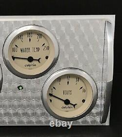 1941 1942 1943 1944 1945 1946 Chevy Camion 5 Gauge Dash Cluster Tan