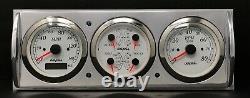 1941 1942 1943 1944 1945 1946 Chevy Truck 3 Gauge Gps Dash Panel Cluster Blanc