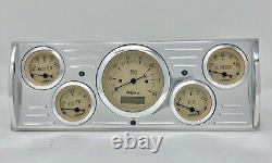 1941 1942 1943 1944 1945 1946 Chevy Truck 5 Gauge Dash Cluster Tan
