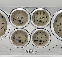 1953 1954 1955 Ford Camion 6 Gaged Dash Panel Ensemble De Cluster Billet Insert Tan