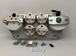 1953 1954 1955 Ford Truck 6 Gauged Dash Panel Cluster Set Billet Insert Blanc