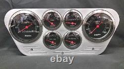 1953 1954 1955 Ford Truck 6 Gauged Dash Panel Cluster Set Billet Insert Noir