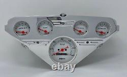 1955 1956 1957 1958 1959 Chevy Truck Gauge Dash Cluster Street Rod Metric White
