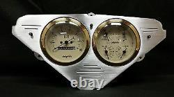 1955 1956 1957 1958 1959 Chevy Truck Quad 2 Gauge Dash Panel Cluster Set Gold