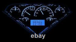 1955-1959 Chevy Gmc Truck Alliage Noir Et Bleu Dakota Digital Vhx Kit Jauge Analogique
