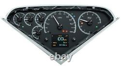 1955 -59 Chevy Gmc Truck Black Alloy Dakota Digital Hdx Kit De Jauge Personnalisable