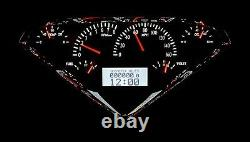 1955-59 Chevy Gmc Truck Black Alloy & White Dakota Digital Vhx Analog Gauge Kit