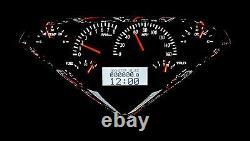 1955-59 Chevy Gmc Truck Silver Alloy & White Dakota Digital Vhx Analog Gauge Kit