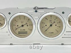 1960 1961 1962 1963 Chevy Camion 6 Gauge Dash Panneau D'insertion Cluster Set Tan