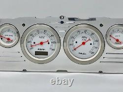 1960 1961 1962 1963 Chevy Truck 6 Gauge Dash Cluster Blanc