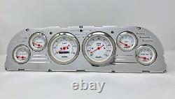 1960 1961 1962 1963 Chevy Truck 6 Gauge Dash Panel Insert Cluster Set Blanc