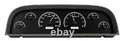 1960-63 Chevy C10 Truck Black Alloy & White Dakota Digital Vhx Analog Gauge Kit