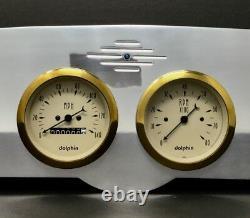 1961 1962 1963 1964 1965 1966 Ford Truck 6 Gauge Dash Cluster Gold