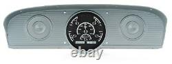 1961-66 Ford F100 Camion Pickup Dakota Digital Black Alloy - Kit De Jauge Vhx Blanc