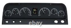 1964-66 Chevy C10 Truck Black Alloy Dakota Digital Hdx Kit De Jauge Personnalisable