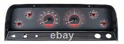 1964-66 Chevy C10 Truck Carbon Fiber & Red Dakota Digital Vhx Analog Gauge Kit