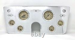 1967 1968 1969 1970 1971 1972 Chevy Camion 6 Gauge Dash Panel Cluster Tan 3 3/8