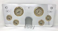 1967 1968 1969 1970 1971 1972 Chevy Truck 6 Gauge Dash Panel Cluster Gold 3 3/8