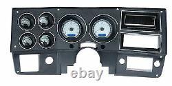 1973-1987 Chevy Truck C10 Alliage D'argent Et Bleu Dakota Digital Vhx Kit Jauge Analogique