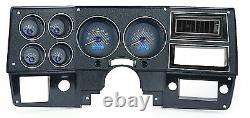 1973-1987 Chevy Truck C10 Carbon Fiber & Blue Dakota Digital Vhx Gauge Analog Kit