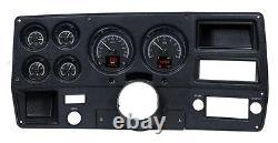 1973-1987 Chevy Truck C10 En Alliage Noir Dakota Digital Hdx Personnalisable Kit De Jauge