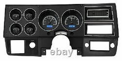 1973-1987 Chevy Truck C10 En Alliage Noir Et Bleu Dakota Digital Vhx Kit Jauge Analogique