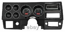 1973-1987 Chevy Truck C10 En Alliage Noir Et Rouge Dakota Digital Vhx Kit Jauge Analogique