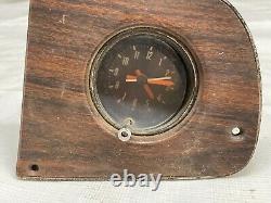 1975-1980 Cluster D'instruments Dodge Truck Clock Woodgrain Overlay Dash Lunette