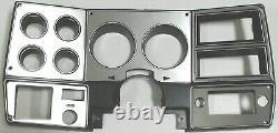 1978-80 Chevy Truck C10 K10 K5 Gauge Cluster Ac Brossé Aluminium Dash Lunette