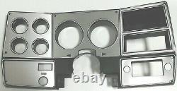 1978-80 Chevy Truck C10 K10 K5 Gauge Cluster Non Ac Brossé Aluminium Dash Bezel