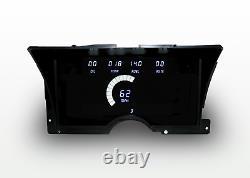 1992-1994 Chevy Truck Digital Dash Panel Cluster Gauges Blanc Leds