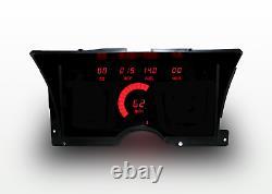 1992-1994 Chevy Truck Digital Dash Panel Cluster Gauges Leds Rouges