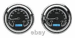 47-53 Chevy Gmc Truck Black Alloy - Blue Dakota Digital Vhx Analog Gauge Kit