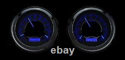 47-53 Chevy Gmc Truck Silver Alliage & Blue Dakota Digital Vhx Analog Gauge Kit