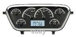 53 54 55 Ford F100 Pick-up Dakota Digital Black Alloy & White Vhx Gauge Kit