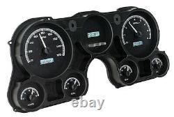 67-72 Chevy Truck C10 Dakota Digital Black Alloy & White Vhx Analog Gauge Kit