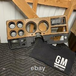 73-80 Chevy Gmc Truck Woodgrain Ac Dash Gauge Bezel C10 K5 K10 Blazer Suburban K