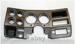 75-80 Nouveau Woodgrain Chevy Gmc Pick-up Dash Lunette Cluster Cover No Ac