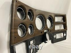 75-80 Nouveau Woodgrain Chevy Gmc Pick-up Dash Lunette De Jauge De Couvercle