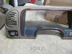 95-99 Chevy Silverado Gmc Woodgrain Dash Cluster Bezel Withswitches