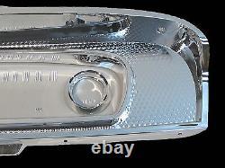 Chrome Dash Instrument Cluster Bezel & Lens Fits1965-66 Ford Truck C5tz-10876-a
