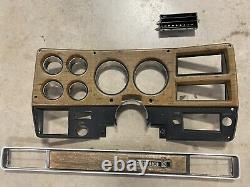 Lunette De Tiret Gm 75-77 Woodgrain Chevy Gmc Originale Et Plaque Passagers